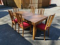 IKEA Bjursta Ext Table 175-260cm & 6 Borje Chairs FREE DELIVERY 4054