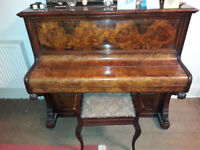 E Bishop & Sons London Upright Piano