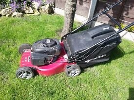 Mountfield 100cc hand prpelled petrol lawn mower with mulching plug