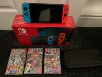 Nintendo switch with games and extras