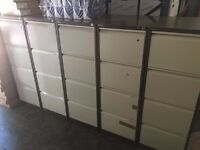 Used Bisley 4 Drawer Filing Cabinets in Coffee & Cream (Used)