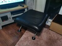 Leather 2 seater sofa, Chair & Footrest