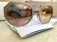 Versace Sunglasses Gold reflector with Gold arms