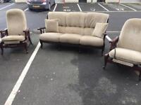 Retro Style Sofa and Chairs
