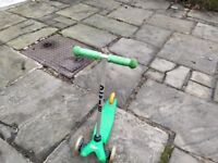 Childrens micro scooter in green
