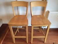 kitchen bar chairs - solid Ash wood