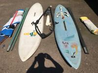 FREE - Windsurfing kit!! Could use as stand up paddle boards - collect b4 25.05