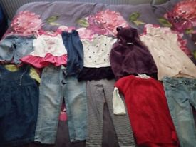 Girls Clothing bundle various sizes from 9m to 3 years old Need gone ASAP