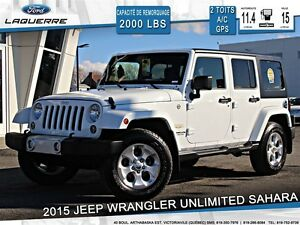 2015 Jeep WRANGLER UNLIMITED SAHARA *2 TOITS*NAVI*BLUETOOTH**