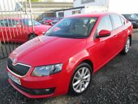 Skoda Octavia 2.0 TDI CR ELEGANCE 5dr DSG + SATNAV + 1 OWNER FROM NEW + FULL SERVICE H... (red) 2013