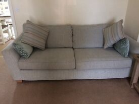 DFS 3 seater and love seat immaculate condition 18 months old