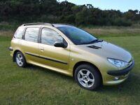 2004 Peugeot 206 SW 1.4 HDI, MOT Until End Feb 2019, £30 Year Road Tax