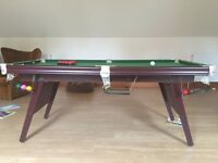 Riley England 6 foot folding Snooker Table (includes cues, balls, triangle)