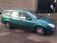 Ford Focus estate- write off - see description. For breaking, spares or fix up. Damaged boot lid...
