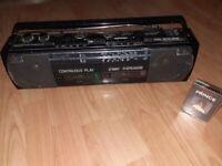 Sharp radio twin cassette wq 268e