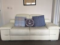 White leather sofa from DFS