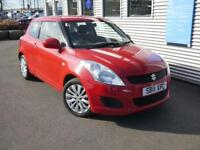 SUZUKI SWIFT 1.2 SZ3 3d 94 BHP **6 Months warranty + AA Recovery** (red) 2011