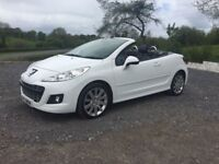 Stunning White Convertible Peugeot 207 cc 1.6HDi full service history for sale