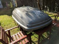 Thule roof box & mont blanc roof bars