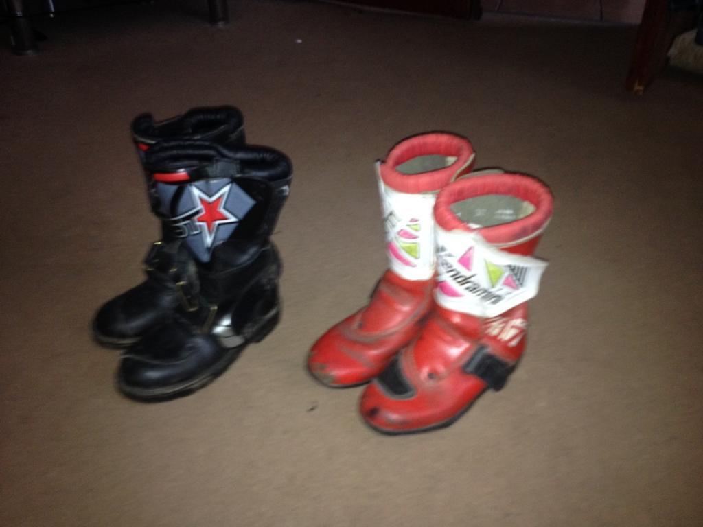 Kids motor cross/motorcycle boots size13