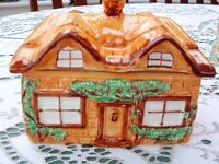 """Vintage """" Cottage Ware"""" butter dish with lid."""
