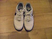 White Nike Air force Size uk10