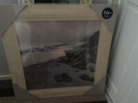 Oak deep framed picture .... New in packaging....79cms x 79cms .