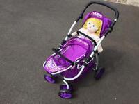 Deluxe dolls push chair/pram