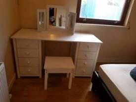 Scandinavian White Dressing Table
