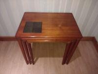 RARE Toften Vintage Danish Nest of Tables - MCM Mid Century Modern E W Bach Toften Retro Teak Wood