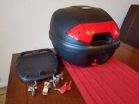 Kappa K30N motorcycle top box and fittings