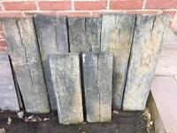 Concrete Garden Paving Sleepers x 7