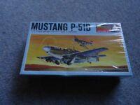 monogram mustang p-51b 1/72 scale model world war fighter 1968 shrinkwrapped