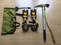Grivel G10 Crampons and Ice Axe