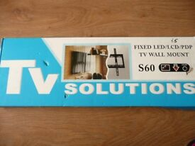TV SOLUTIONS S60 FIXED WALL MOUNT BRACKET NEW IN BOX