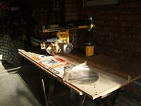 Dewalt radial arm cross cut table saw dw720