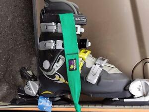 ski et fixation rossignol, botte salomon