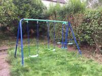 Kids double swing