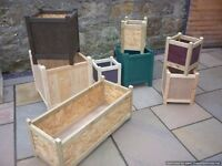 garden planters wooden different sizes