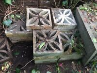 24 second hand dirty square blocks for a garden wall collection only