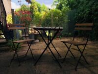 IKEA TÄRNÖ Outdoor Furniture Set Table + 2 chairs - Perfect condition - Pick up Only