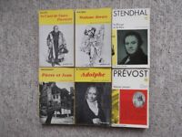 6 French novels from Classiques Garnier - Balzac, Constant, Prevost, Stendhal, Flaubert & Maupassant