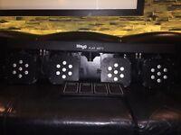 As new Stagg SLI FLATSET 1-0 High Powered LED Par Bar Disco DJ