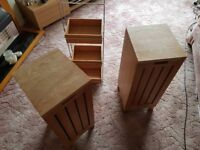 Wooden storage units & tiered open storage caddy , bought & used Bathroom but could have other uses