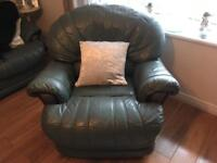 Sofa-3 seater, 2 seater and a rocking recliner chair suite