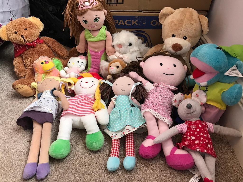 Soft toys 50p each in excellent condition