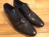 Men's Burton Black Leather Shoes size 8