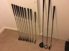 Full set golf clubs inc driver, hybrid, bag and irons