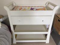"Mamas and papas ''Mia"" changing station with drawer and shelves"