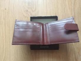 Jack Reid Mens Genuine Leather Brown Wallet